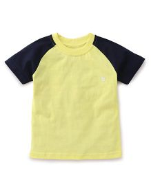 Babyhug Half Sleeves T-Shirt - Yellow Grey