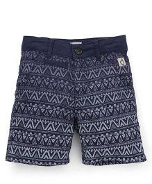 Gini & Jony Printed Shorts - Navy