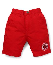 Palm Tree Casual Shorts Legendary Champion Patch - Red