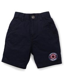 Palm Tree Casual Shorts Legendary Champion Patch - Navy Blue