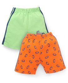 Tango Casual Shorts Pack of 2 - Green Orange