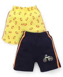 Tango Casual Shorts Pack of 2 - Yellow Navy