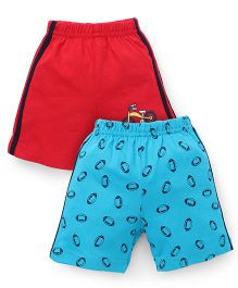 Tango Casual Shorts Pack of 2 - Red Sky Blue