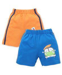 Tango Casual Shorts Pack of 2 - Orange Blue