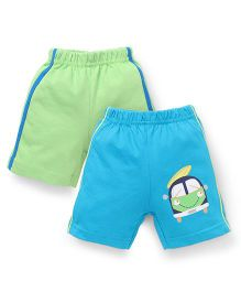 Tango Casual Shorts Pack of 2 - Light Green Sky Blue
