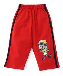 Tango Full Length Track Pants - Red