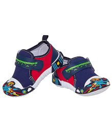 77 Seventy Seven Baby Canvas Shoes With Panda Applique - Navy Blue