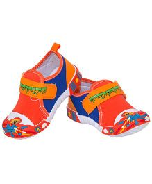 77 Seventy Seven Baby Canvas Shoes With Panda Applique - Orange