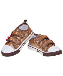 77 Seventy Seven Double Strap Baby Canvas Shoes - Brown