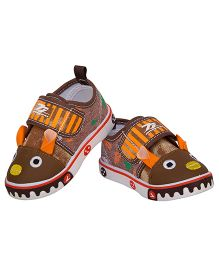 77 Seventy Seven Bunny Baby Canvas Shoes - Brown