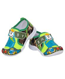 77 Seventy Seven Camouflage Baby Canvas Shoes - Green