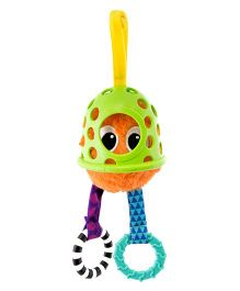 Sassy Peek & Pull Giggle Guy Clip On Rattle - Multicolor