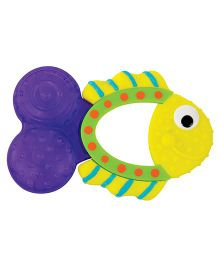 Sassy Fish Teether - Yellow Purple