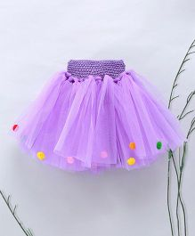 Murphy Mouse Pom Pom Tutu Skirt - Purple