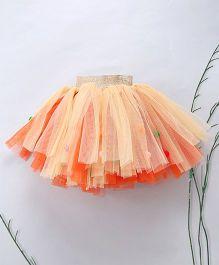 Murphy Mouse Candy Pom Pom Skirt - Orange & Cream
