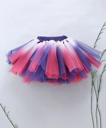 Murphy Mouse Double Shaded Tutu Skirt - Blue Pink & White