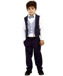 Kidology Sky Lounge Vest & Pant Set - Navy Blue