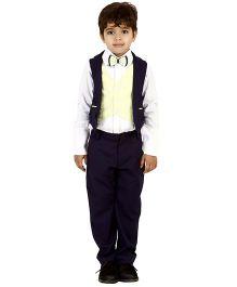 Kidology Chess Board Vest & Pant Set - Lime & Dark Grey