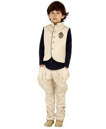 Kidology Vest With Jodhpuri Pant - Gold
