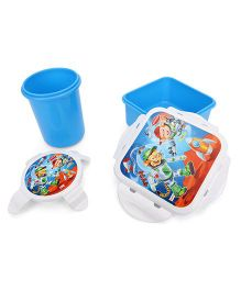 Pratap Hyper Locked Lunch Box Gift Set Junior - Blue