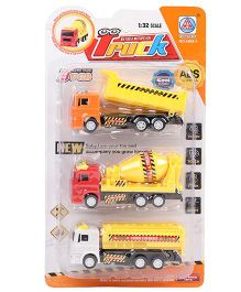 ToyFactory Pull Back Construction Set Toys Pack Of 3 - Yellow