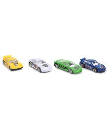ToyFactory Free Wheel Diecast Cars Pack of 4 - Multi Color