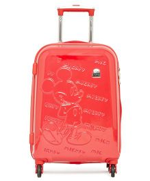 Gamme Disney Mickey Mouse Emboss Kids Luggage Trolley Bag Red - 20 inches