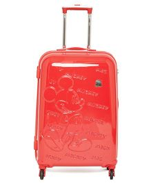 Gamme Disney Mickey Mouse Emboss Kids Luggage Trolley Bag Red - 24 inches