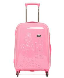 Gamme Disney Princess Emboss Kids Luggage Trolley Bag Pink - 20 inches