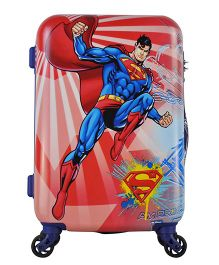Gamme Superman Emboss Kids Luggage Trolley Bag Red - 20 inches