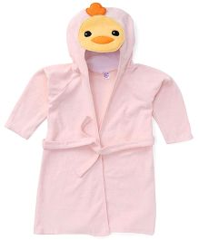 Ben Benny Hooded Bathrobe Cock Design - Peach