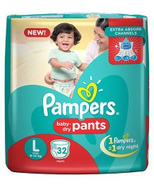 Pampers Pant Style Diapers Large - 32 Pieces