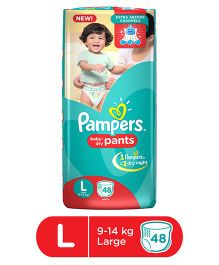 Pampers Pant Style Diapers Large - 48 Pieces