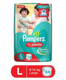 Pampers Pant Style Diapers Large - 68 Pieces
