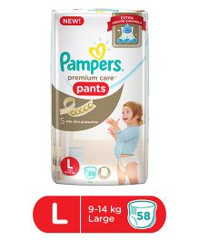 Pampers Premium Care Pant Style Diapers Large - 58 Pieces