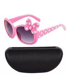Kidofash Full Polka Dot Sunglasses With Case - Pink