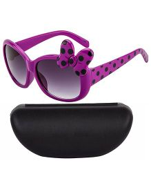 Kidofash Full Polka Dot Sunglasses With Case - Purple