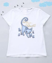 Sequences Foil Print Baby Tee - White