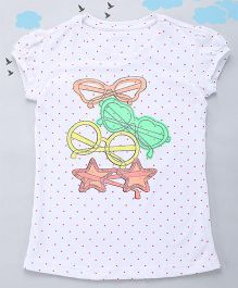 Sequences Multi Spec Print Polka Tee - White
