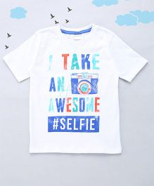 Sequences Selfie Printed Tee - White