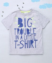 Sequences Big Trouble Printed Tee - Grey