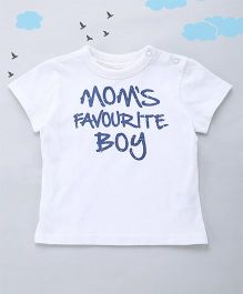 Sequences Moms Favourite Printed Tee - White