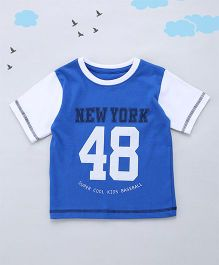 Sequences New York 48 Sporty Print Tee - Blue