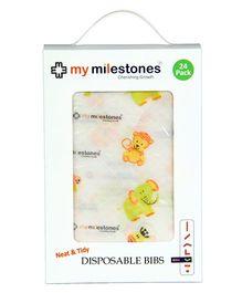 My Milestones Disposable Bibs - Pack Of 24