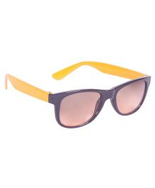 Glucksman Classic Wayfarer Kids Sunglass - Yellow Brown