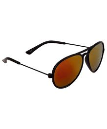 Glucksman Classic Aviator Kids Sunglasses - Red