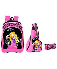 Avon Rockstar Backpack Combo Black And Pink - 18 Inches