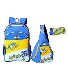 Avon Backpack Combo Blue And Yellow - 18 Inches