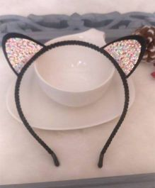 Treasure Trove Bunny Ears Hair Band - Black