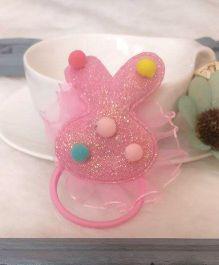 Treasure Trove Rabbit Ear Pony Tail Holder - Baby Pink